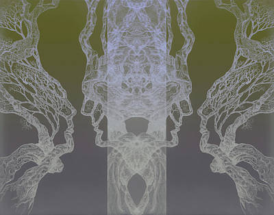 Digital Art - See Oneself Tree 11 Hybrid 3  by Brian Kirchner