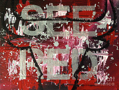 Painting - See Red Chicago Bulls by Melissa Goodrich