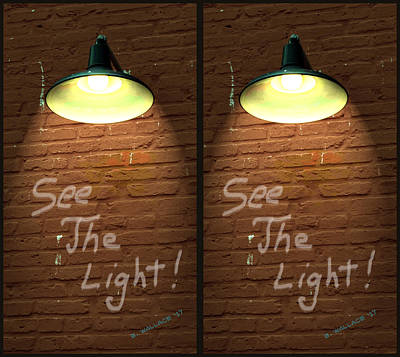 The View Mixed Media - See The Light - 3d Stereo X-view by Brian Wallace