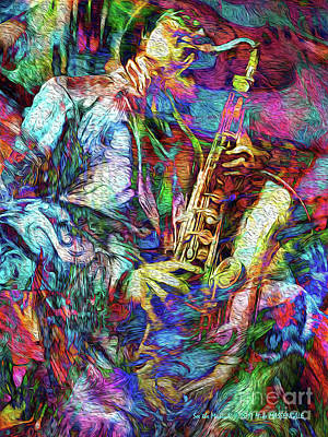 Mixed Media - See The Music 5 by Mike Massengale