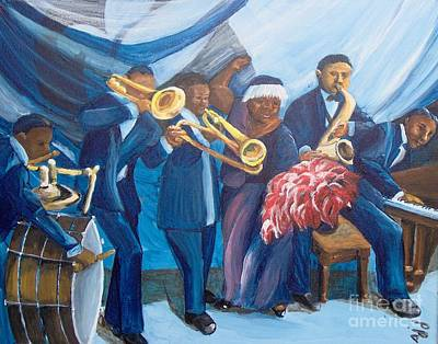 Art Print featuring the painting See The Music by Saundra Johnson