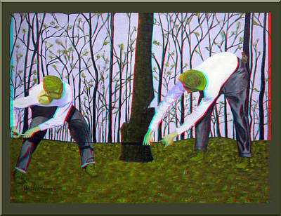 See What I Saw - Use Red-cyan 3d Glasses Art Print by Brian Wallace