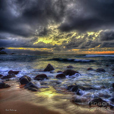 Photograph - See You Tomorrow North Shore Sunset Hawaii Collection Art by Reid Callaway