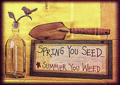 Photograph - Seed And Weed by Lewis Mann