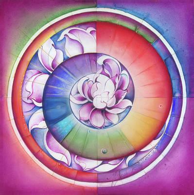 Painting -  Seed Of Life - Mandala Of Divine Creation by Anna Miarczynska