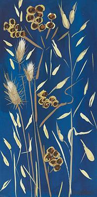 Pods Painting - Seed Pods And Grasses by Sarah Gillard