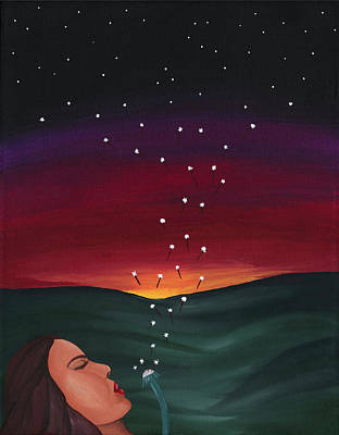 The Universe Painting - Seeding The Sky by Lisa Orban