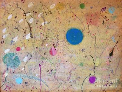 Contemporary Ethnic Artist Painting - Seeds Of The Universe 1 by Katrina Dalton
