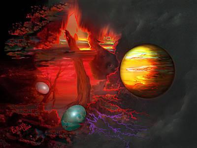 Universal System Digital Art - Seeds Of The Universe by Billie Jo Ellis