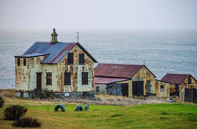 Photograph - Seedy Farmhouse And Barn Reykjanes Peninsula Iceland by Deborah Smolinske