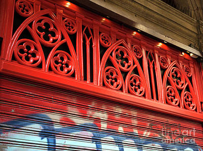 Photograph - Seeing Red In Barcelona by John Rizzuto