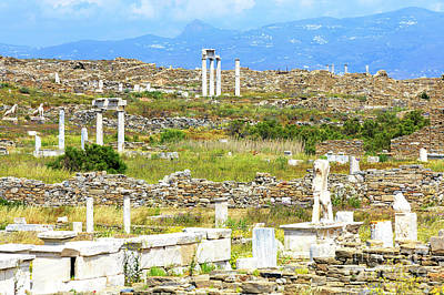 Photograph - Seeing Ruins On The Island Of Delos by John Rizzuto