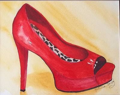 Platform Shoe Painting - Seeing Spots by Patricia Voelz