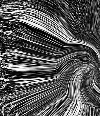 Crow Digital Art - Seeing Through by Abstract Angel Artist Stephen K