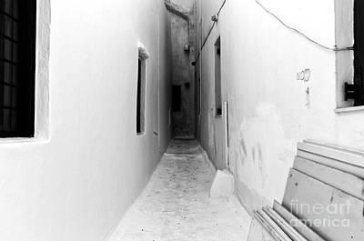 Photograph - Seeing White In Mykonos Mono by John Rizzuto