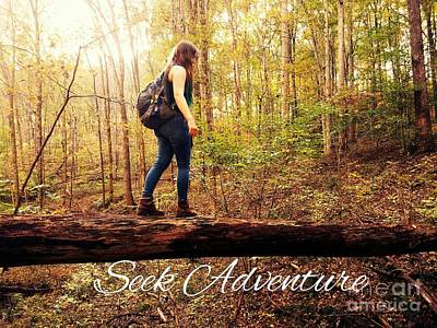 Seek Adventure Art Print by Scott D Van Osdol