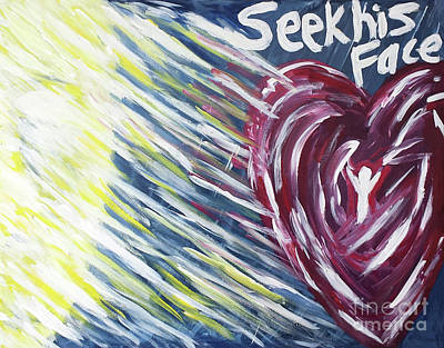 Holy Spirit Painting - Seek His Face by Curtis Sikes