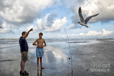 Digital Art - Seeking Fish by Georgianne Giese