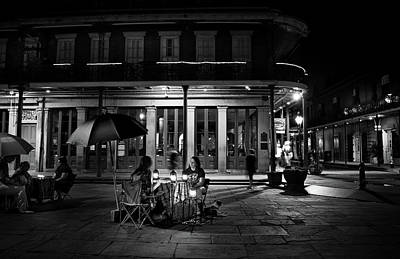 Photograph - Seeking Knowledge At Jackson Square Bw by Greg Mimbs