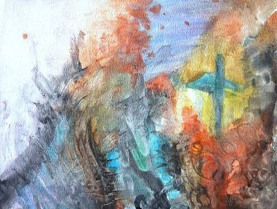 Creative Passages Painting - Seeking Salvation From The Turmoil by Cassandra Donnelly