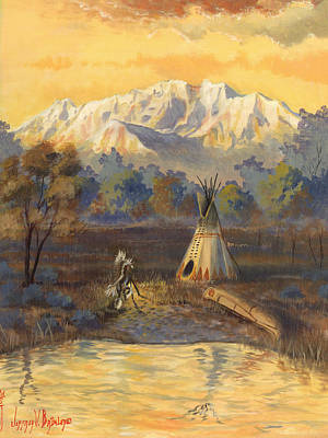 Tipi Painting - Seeking The Divine by Jeff Brimley