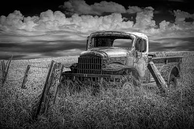 Photograph - Seen Better Days In Black And White by Randall Nyhof