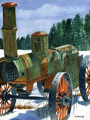 Steam Tractor Painting - Seen Better Days by Jeff Blazejovsky