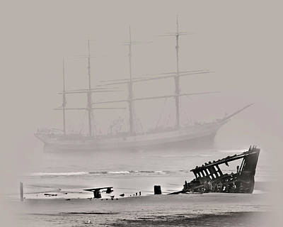 Peter Iredale Digital Art - Seen Through The Fog by John Christopher