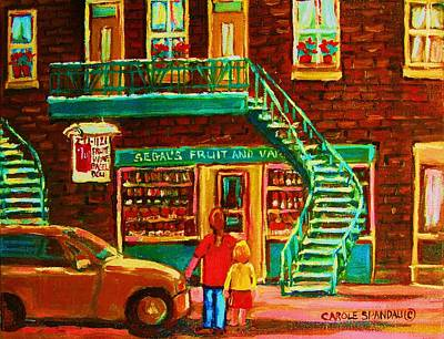 Segal's Fruit And Variety Store Original by Carole Spandau