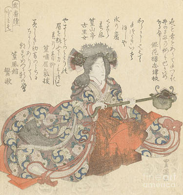 Painting - Segawa Kikunojo As Tomoe Gozen by Utagawa Toyokuni