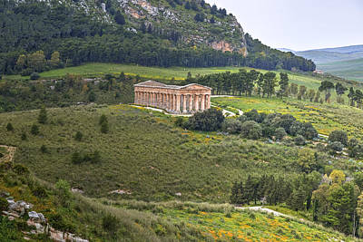 Greek Temple Photograph - Segesta - Sicily by Joana Kruse