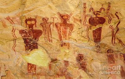 Photograph - Sego Petroglyphs Utah 2 by Bob Christopher
