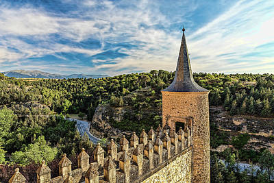Photograph - Segovia Alcazar Parapet And Tower by Josh Bryant