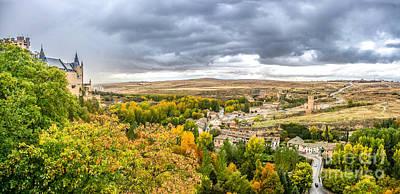 Photograph - Segovia Castle With Dramatic Cloudsccape, Castilla Y Leon, Spain by JR Photography