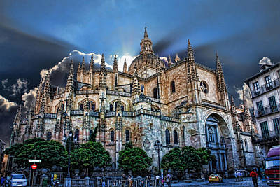 Segovia Cathedral  Art Print by Angel Jesus De la Fuente