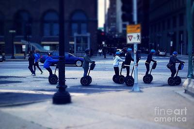 Frank J Casella Royalty-Free and Rights-Managed Images - Segway - City of Chicago by Frank J Casella