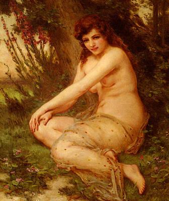 Nymphe Digital Art - Seignac Guillaume La Nymphe De Foret by Guillaume Seignac