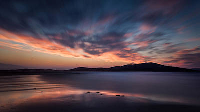 Photograph - Seilebost Sunset by Dave Bowman