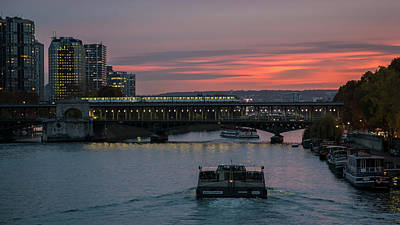 Photograph - Seine At Dusk by Hitendra SINKAR
