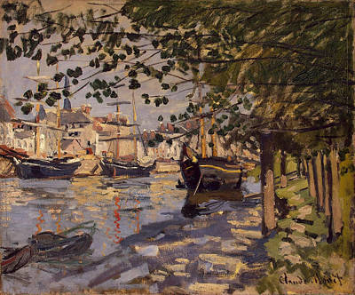 Seine River Wall Art - Painting - Seine At Rouen by Claude Monet