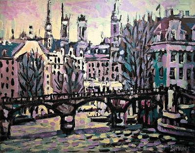 Streetscape Painting - Seine by Brian Simons