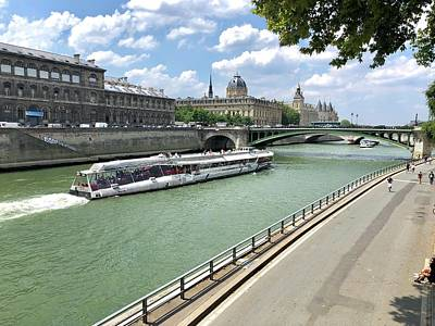 Photograph - River Seine In Paris by Charles Kraus
