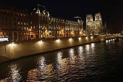 Photograph - Seine - Notre Dame by Erik Tanghe