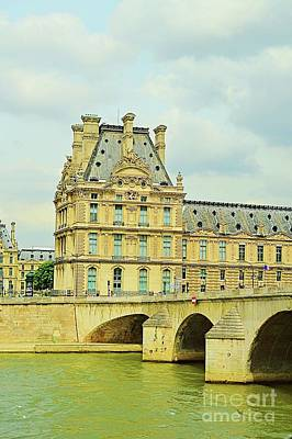 Paris Skyline Royalty-Free and Rights-Managed Images - Seine River in Paris France by Linda Covino