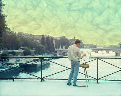 Photograph - Seine River Inspiration by Richard Goldman