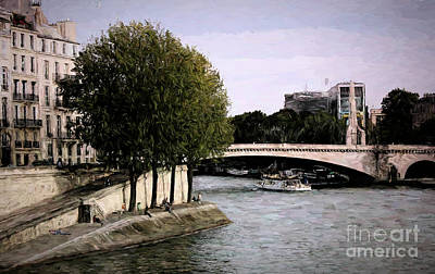 Photograph - Seine River Landscape  by Chuck Kuhn
