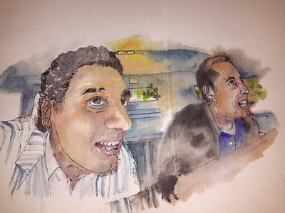 Seinfeld Painting - Seinfeld Comedy In Cars Album by Debbi Saccomanno Chan