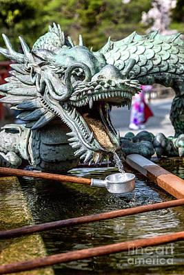 Photograph - Seiryu Dragon Fountain by Karen Jorstad