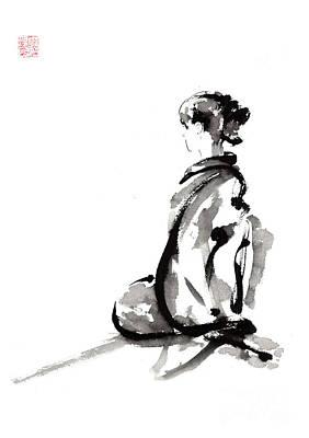 Seiza - Zen Painting. Art Print by Mariusz Szmerdt