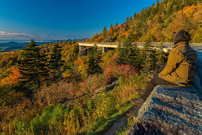 Seize The Day At Linn Cove Viaduct Autumn Art Print